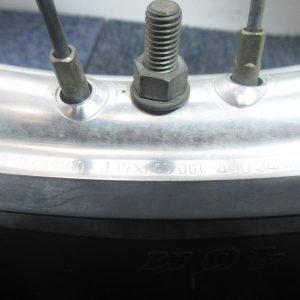 Roue avant Honda CR 85 (70/100-17 M/C 40M) (17×1.40)