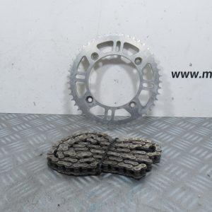 Couronne 49 dents et chaîne  KTM SX 85 cc