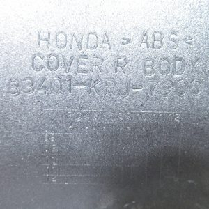Carenage arriere droit (ref: 83401-krj-790) Honda Swing 125